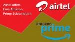 Amazon Primeను ఉచితంగా అందిస్తున్న Airtel రీఛార్జ్ ప్లాన్లు