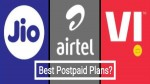 Jio vs Airtel vs Vi: పోస్ట్పెయిడ్ ప్లాన్ల ప్రయోజనాలలో Jio, Airtelలను వెనక్కి నెట్టిన Vi....
