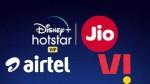 Jio vs Airtel vs Vi: డిస్నీ+ హాట్స్టార్ కొత్త ప్రీపెయిడ్ ప్లాన్లలో బెస్ట్ ఎవరు??