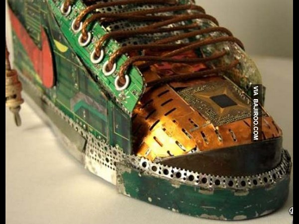 Amazing Shoes Made From Waste Pentium Chips