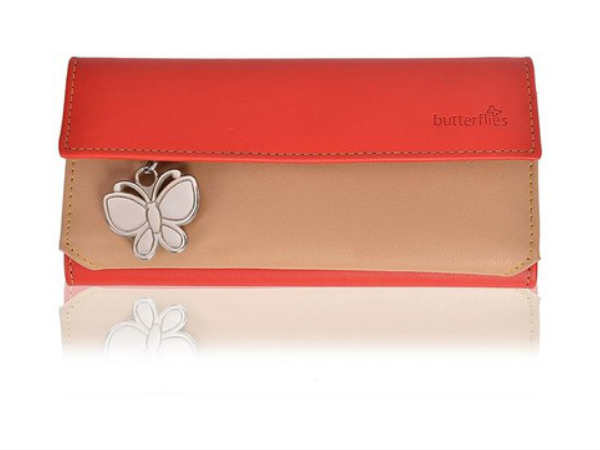 Butterflies Textured Finish Wallet