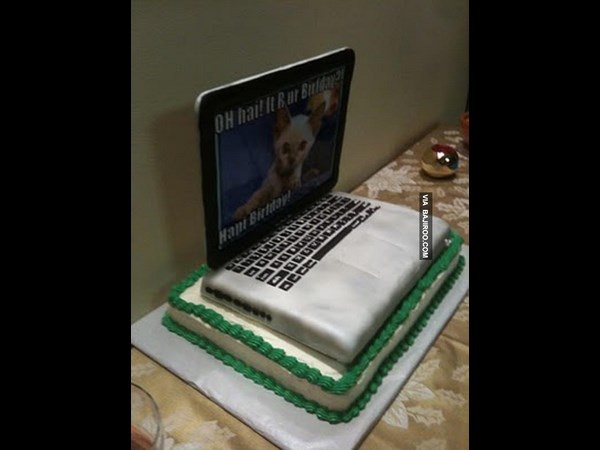 Amazing Laptop Themed Cakes