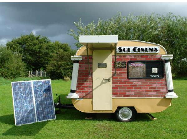 World's Smallest Solar-Powered Movie Theater