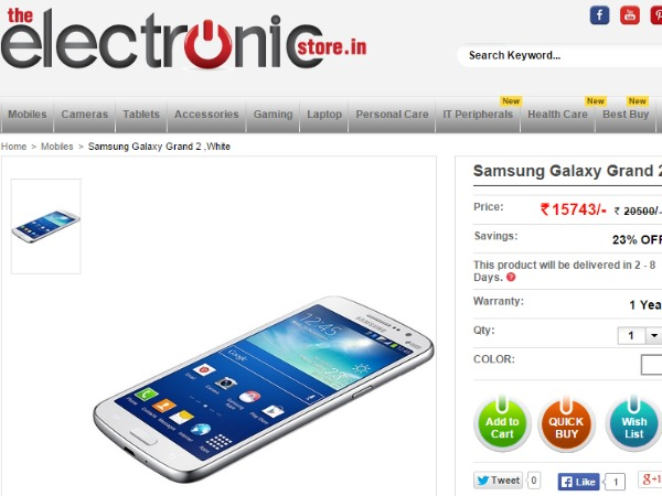 TheElectronicStore : ( Samsung Galaxy Grand 2)