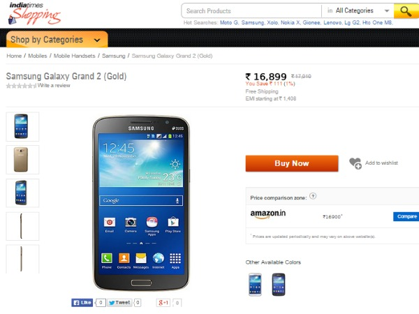 Shopping.indiatimes : ( Samsung Galaxy Grand 2)