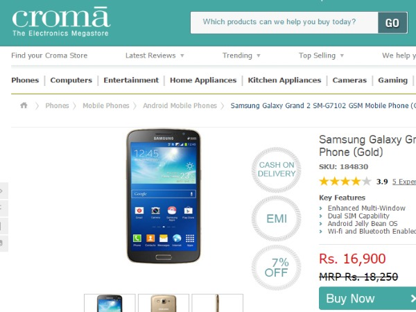 Cromaretail : ( Samsung Galaxy Grand 2)