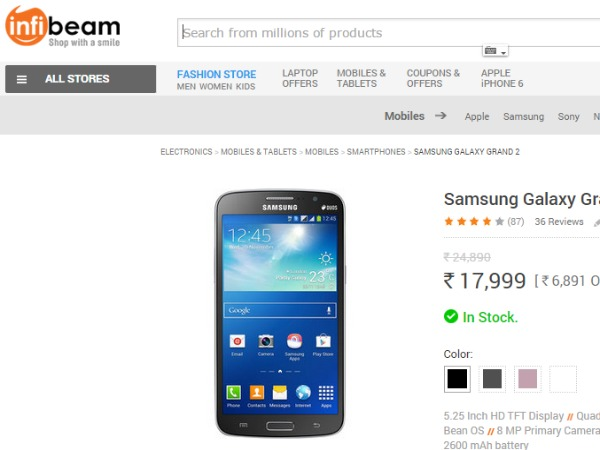 Infibeam : ( Samsung Galaxy Grand 2)