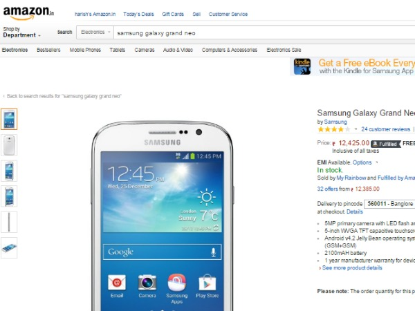 Amazon : (Samsung Galaxy Grand Neo)
