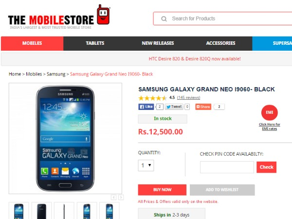 TheMobileStore : ( Samsung Galaxy Grand Neo)