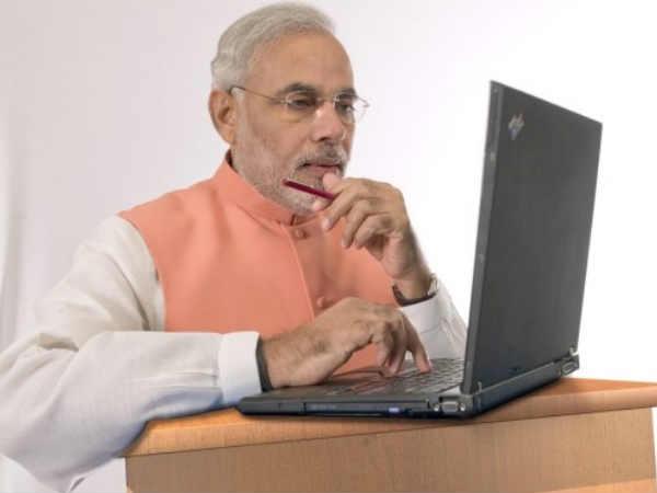 భారత ప్రధాని ఫస్ట్ సెల్పీ ఇదే