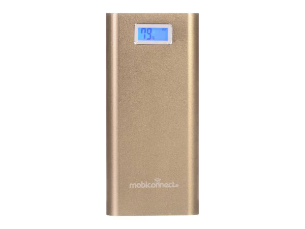 Mobiconnect MPB-20801 Power Bank Portable Charger - Golden 20800 mAh