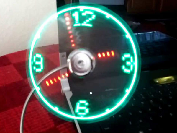 USB LED clock fan : Rs 543
