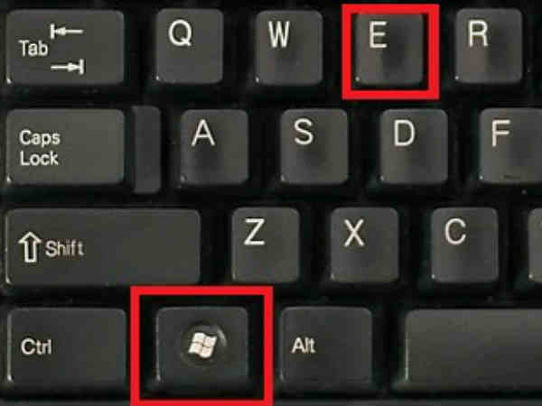 Windows Key+E