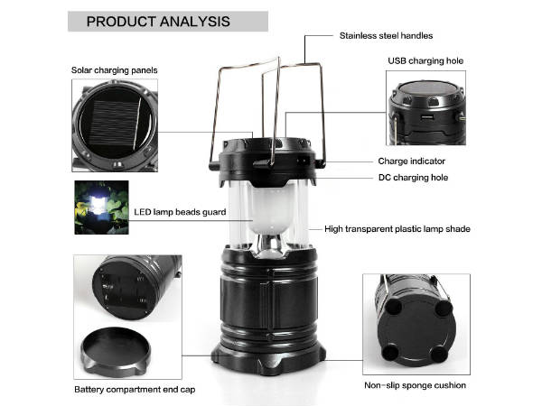 Bulfyss LED Solar Emergency Light Lantern