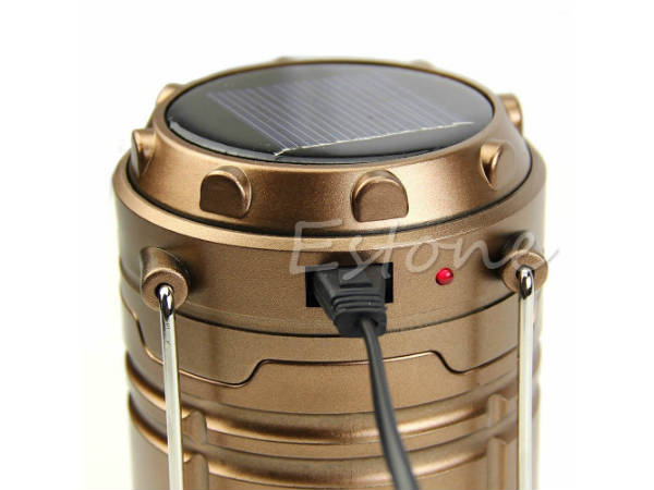 Solar LED Emergency Light + USB Mobile Charger