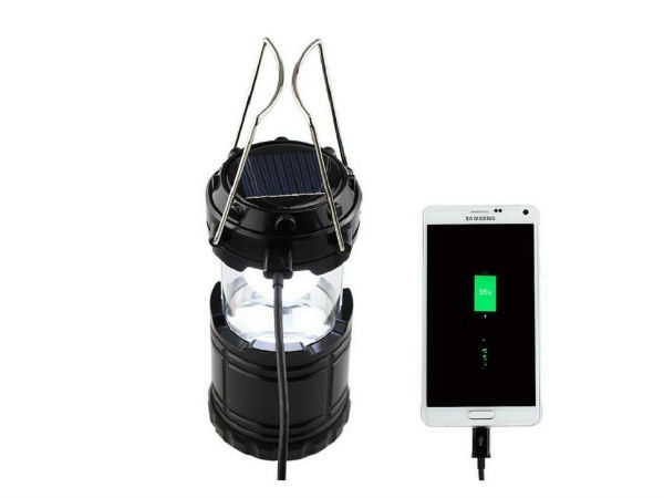 LED Solar Emergency Light Lantern + USB Mobile Charger