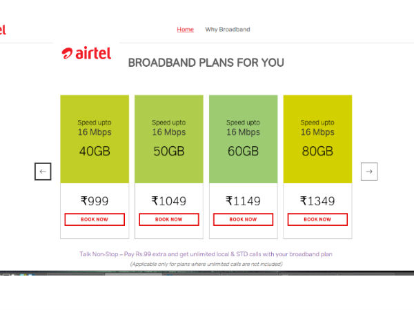 project report on customer perception of airtel broadband