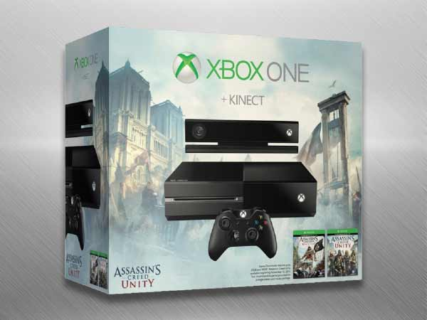 Xbox One Console with Kinect (Free Game DLCs: Assassin's Creed: Unity, Assassin's Creed: Black Flag & Dance Central Spotlight)
