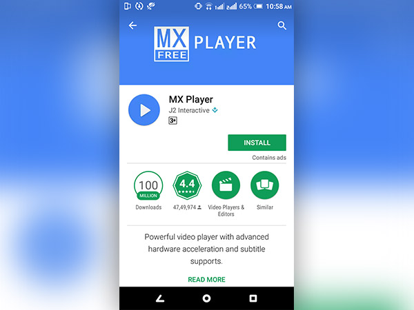 MX player, Wondershare player