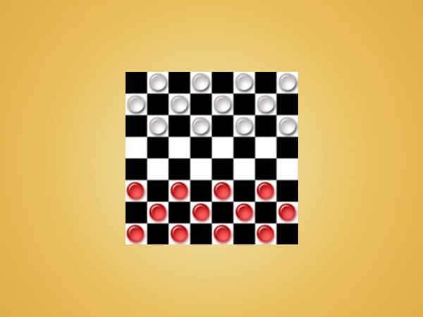 Checkers puzzle game