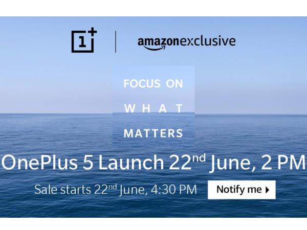 8జీబి ర్యామ్తో OnePlus 5, అమెజాన్ ఎక్స్క్లూజివ్