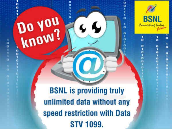BSNL బంపరాఫర్, స్పీడ్ తగ్గకుండా అన్లిమిటెడ్ డేటా