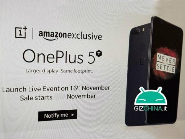 OnePlus 5T వచ్చేస్తోంది, నవంబర్ 15న మార్కెట్లోకి!