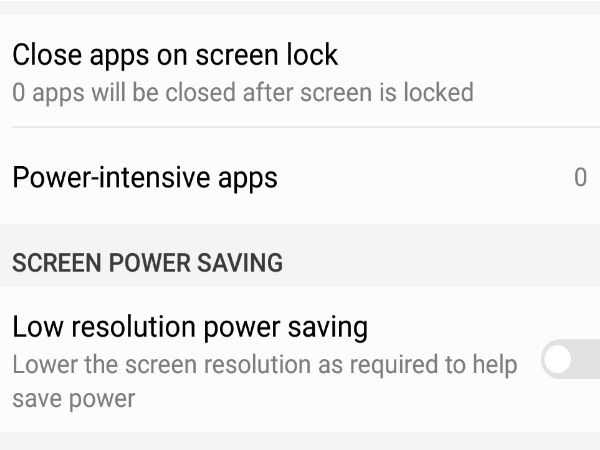 App Power Saving and Screen Power Saving