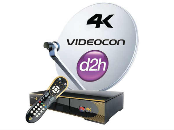 Videocon d2h  4k Ultra HD Box