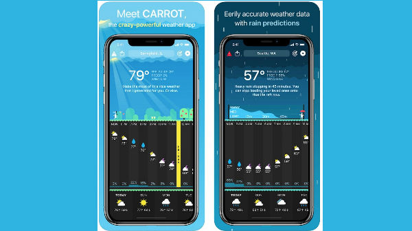 carrot weather(iOS, $4.99)