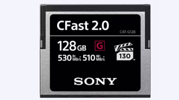 510 MBPS writing స్పీడ్‌తో Sony G Series CFast Memory Cards