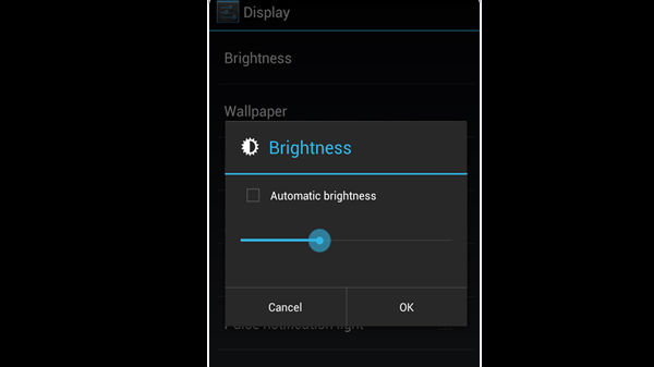 Decrease Display Brightness Or Disable Auto