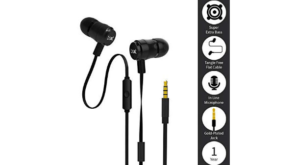 boAt bassheads 238 in-ear headphones with mic