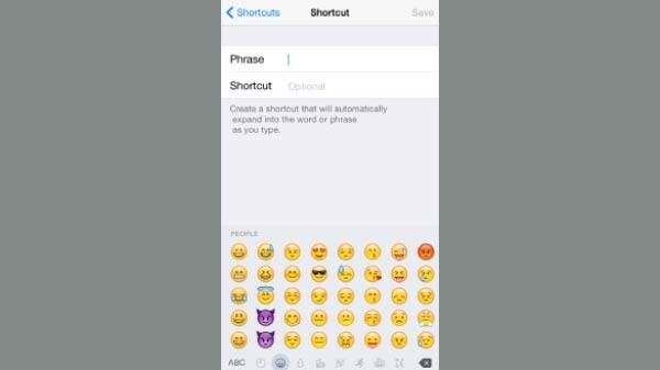 Create Text and Emoji Shortcuts