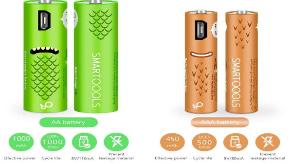 USB RECHARGEABLE AA AND AAA BATTERIES