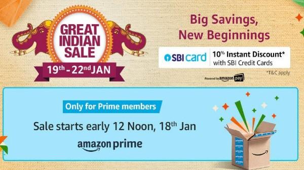 Amazon Great Indian Sale వచ్చేస్తోంది!!! ఆఫర్ల మీద ఓ లుక్ వేసుకోండి!!!
