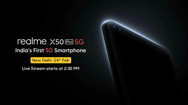 Realme X50 Pro 5G: మరో 6 రోజులలో Feb24న ఇండియాలో ప్రారంభం