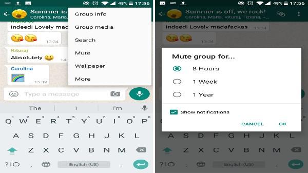 WhatsApp గ్రూప్ నోటిఫికేషన్లను మ్యూట్ చేయడం ఎలా?