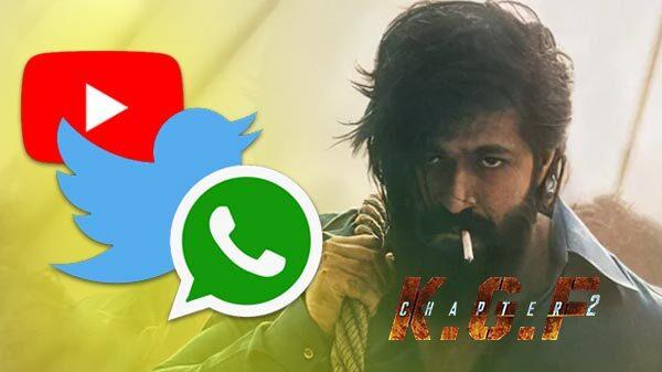 సోషల్ మీడియా లో దుమ్ములేపుతున్న KGF2 . వరల్డ్ రికార్డు కు దగ్గర్లో ...?