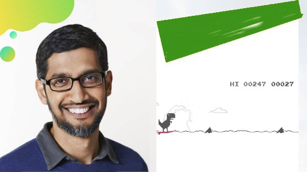 Google డైనోసార్ గేమ్ పై ఆసక్తికర ట్వీట్ చేసిన సుందర్ పిచాయ్....