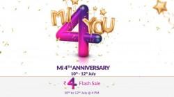 షియోమి 4th anniversary sale, రూ.4కే కొన్ని ఉత్పత్తులు