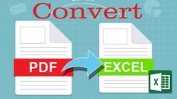 PDF ఫైల్ను Excel షీట్ రూపంలోకి మార్చడం ఎలాగో తెలుసా?